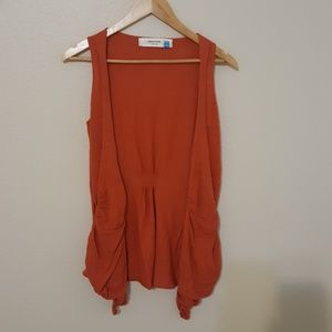 Anthropologie Sparrow sweater vest XS burnt orange